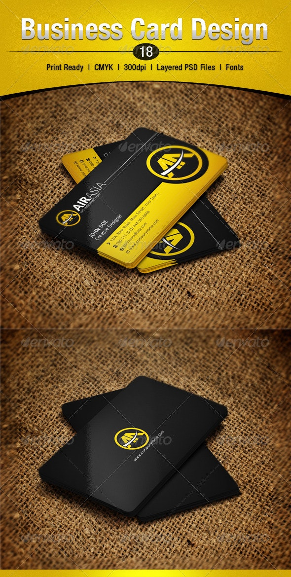Business Card Design 18 - Corporate Business Cards