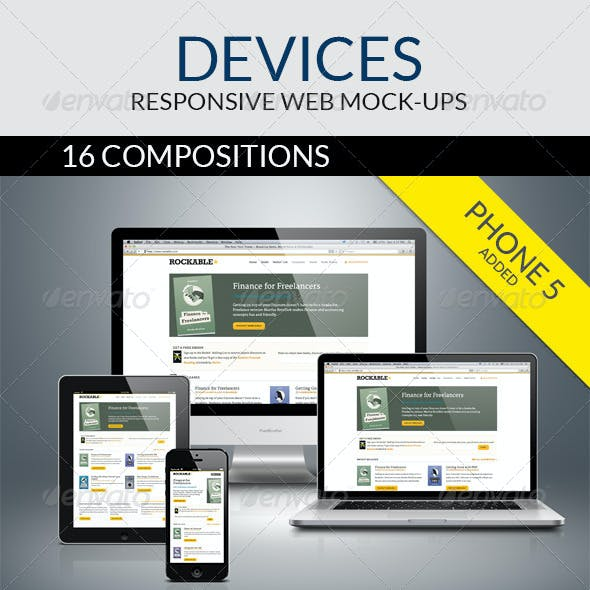 Devices - Responsive Web Mock-ups