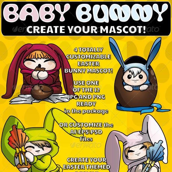 Baby Bunny - Easter Mascot
