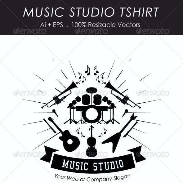 Music Studio Tshirt