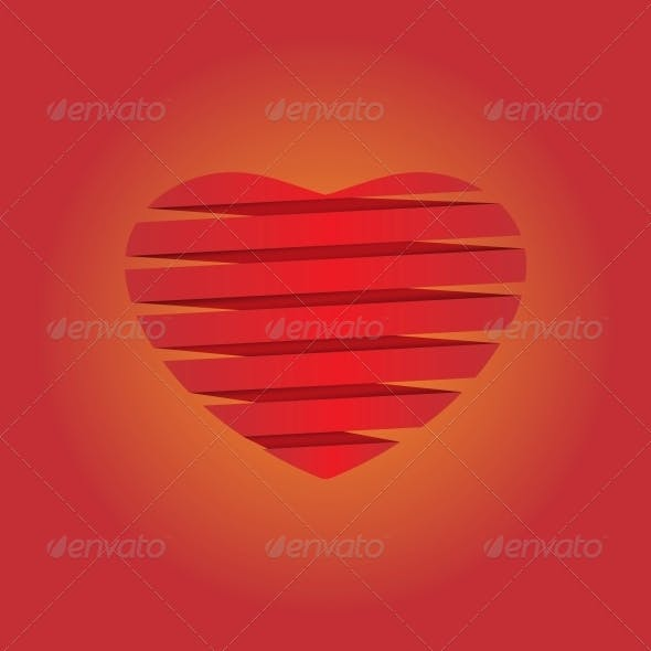 Heart Origami Background Illustration
