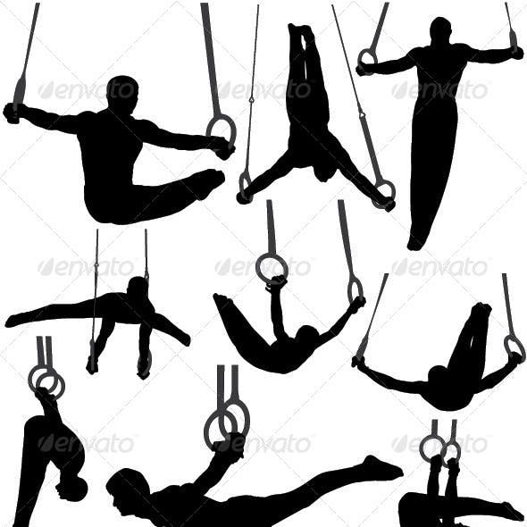 Gymnastics Rings Silhouettes