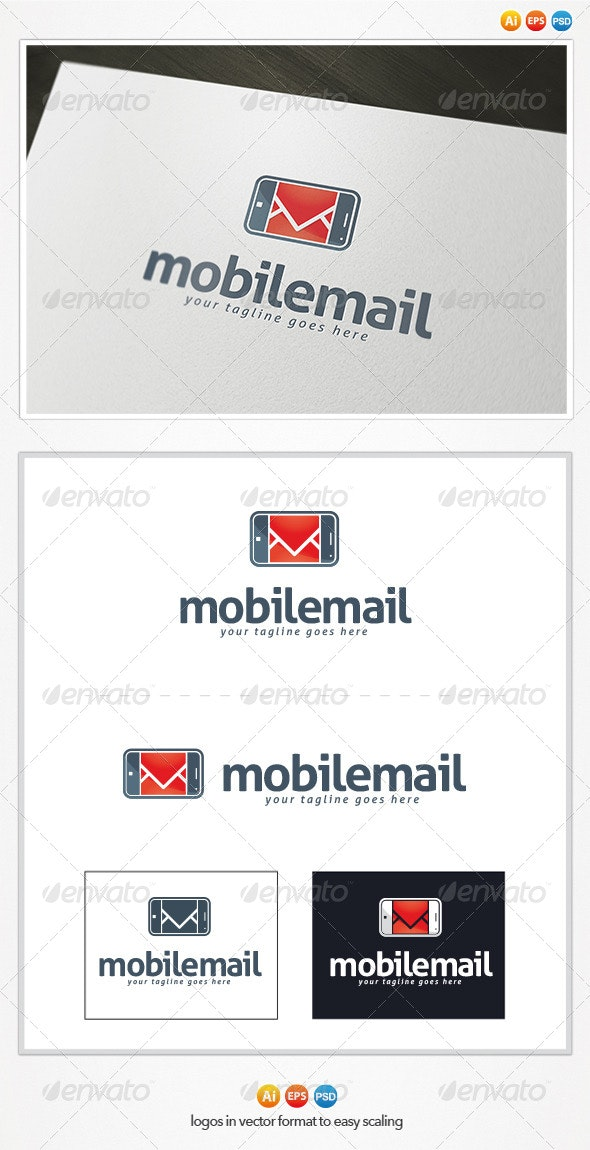 Mobile Mail Logo - Symbols Logo Templates