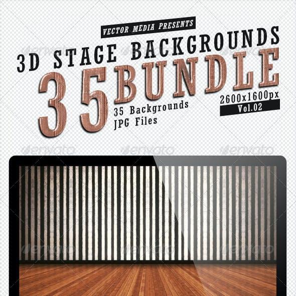 3D Stage Backgrounds - Bundle Vol.2