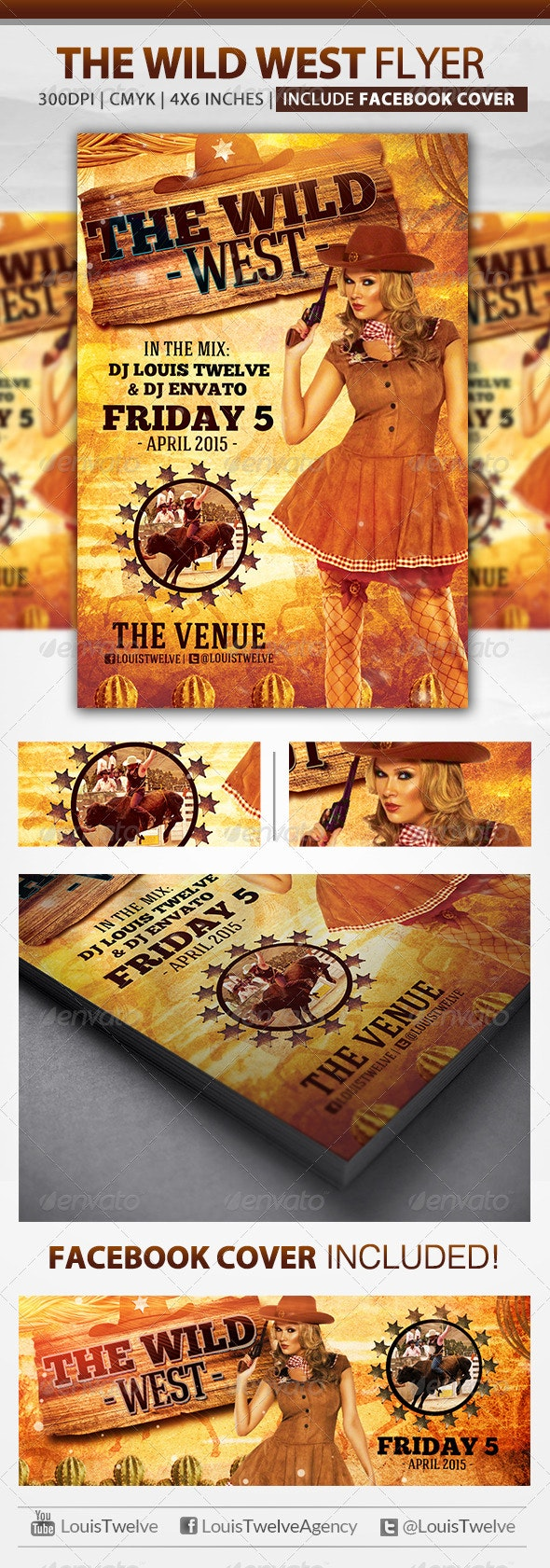 The Wild West   Flyer + Fb Cover - Clubs & Parties Events