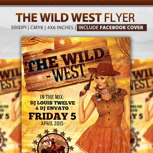 The Wild West | Flyer + Fb Cover