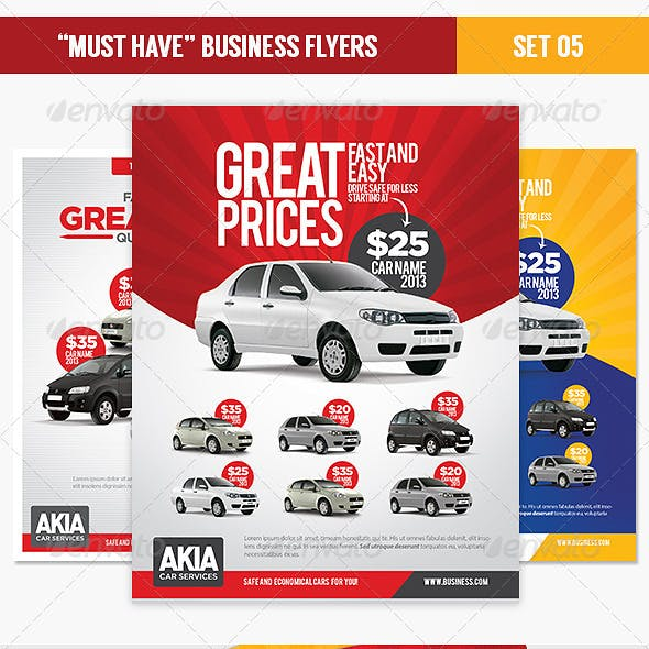 """Must Have"" Business Flyers - Set 05 Car Services"