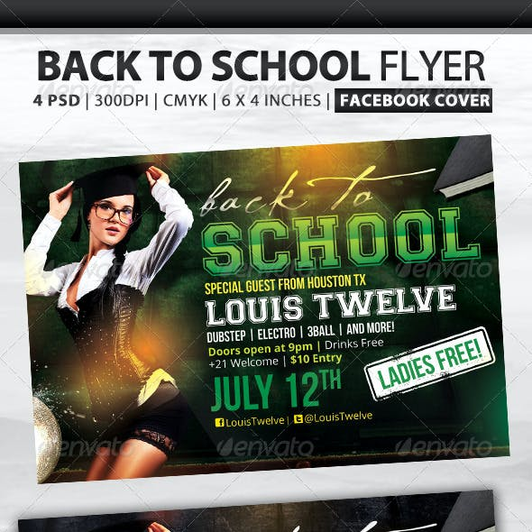 Back to School | Flyer + Fb Cover