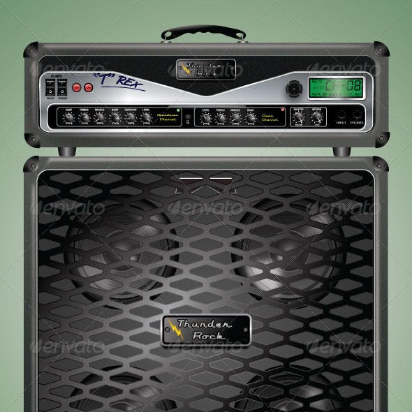Highly Detailed Guitar Amplifier