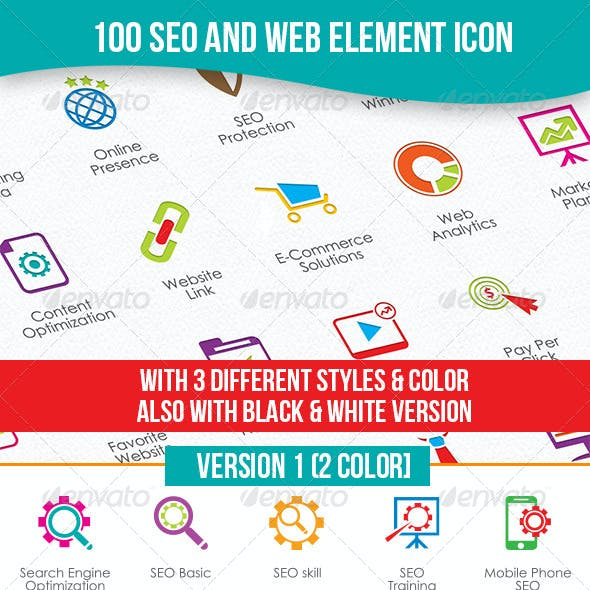 MODERN SEO & WEB ELEMENT ICON