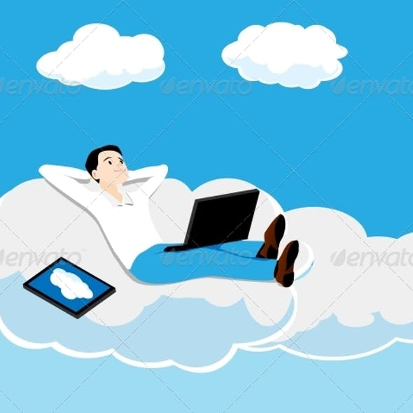 Person on a Cloud