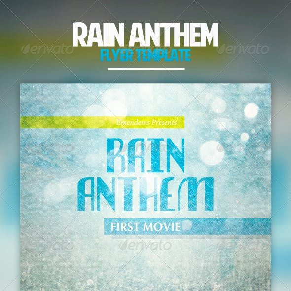 Rain Anthem Flyer Template