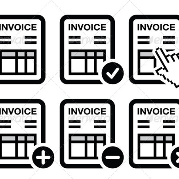 Invoice, Finance Vector Icons Set