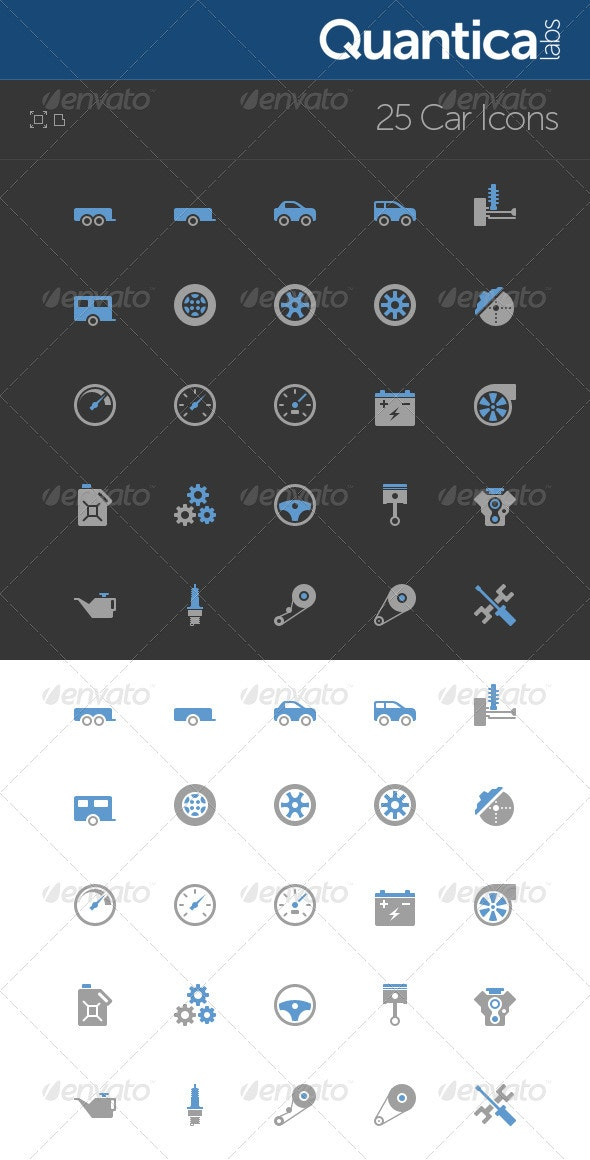 25 Car Icons - Technology Icons