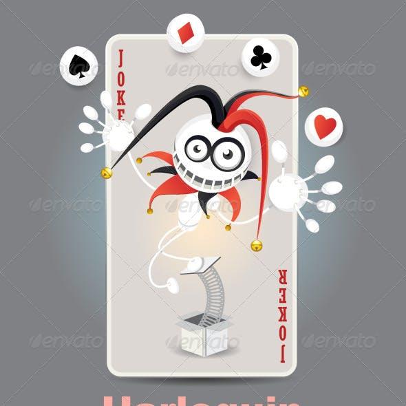 Joker Harlequin Card