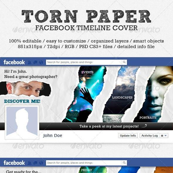 Torn Paper Facebook Timeline Cover