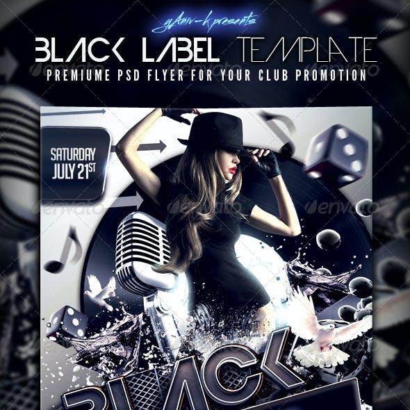 Black Label Flyer Template