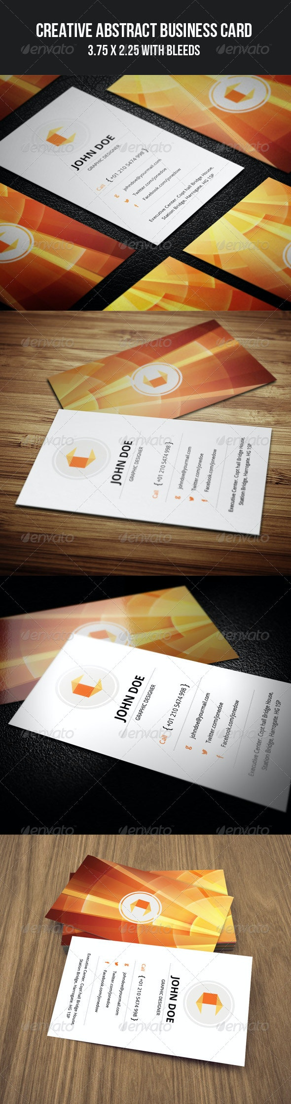 Creative Abstract Business Card - 45 - Creative Business Cards