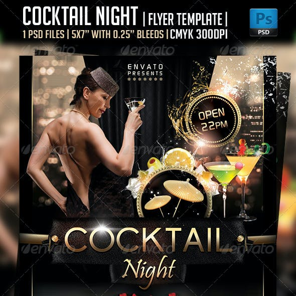 Cocktail Night Flyer Template