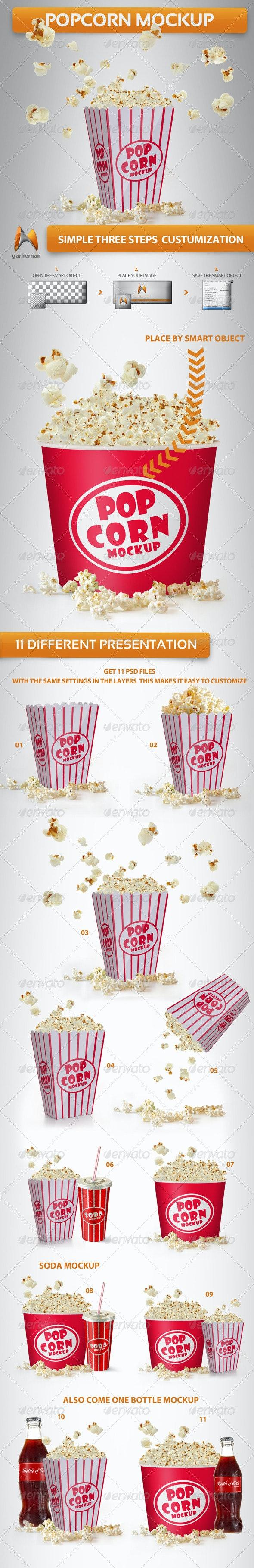 Popcorn Mockup - Food and Drink Packaging