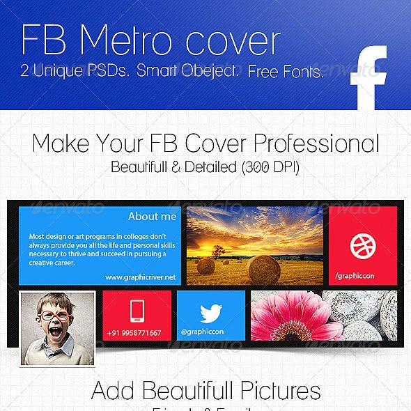 Creative Fb Cover and Facebook PSD Graphics, Designs & Templates