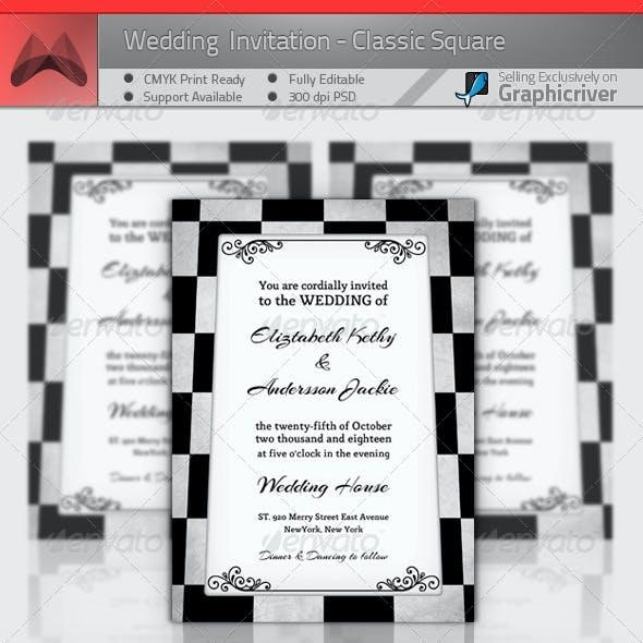 Wedding Invitation - Classic Square