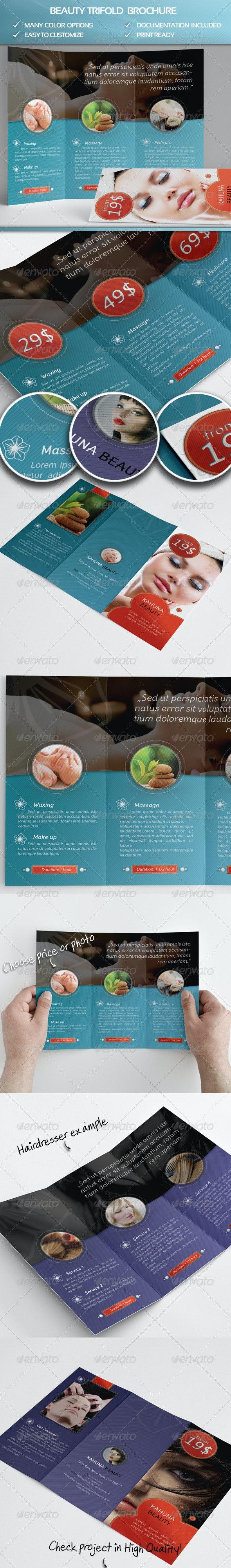Beauty Trifold Brochure - Informational Brochures
