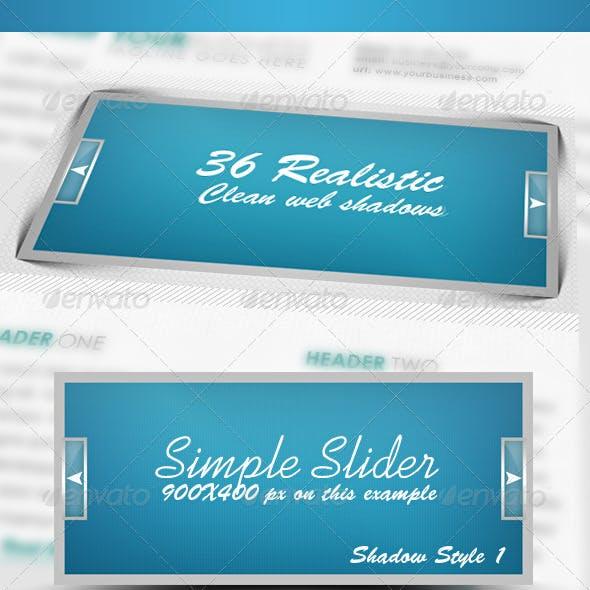 36 Realistic & Clean Web Shadows Pack