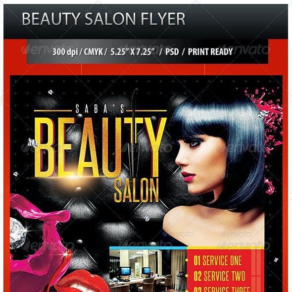 Beauty Salon Business Promotion Flyer
