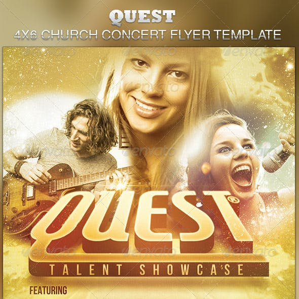 Quest Church Concert Flyer Template