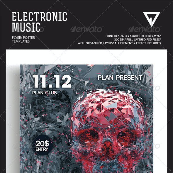 Electronic Music Flyer/Poster