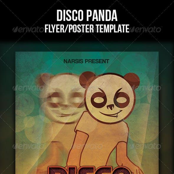Disco Panda Flyer Template