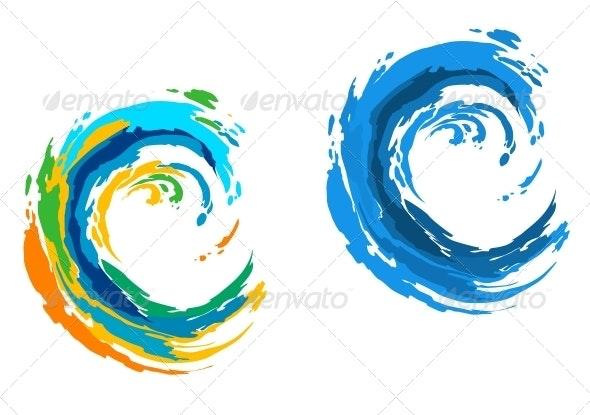Colorful Waves - Miscellaneous Vectors
