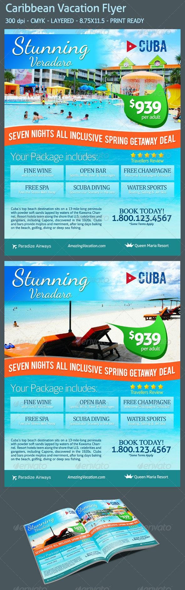 Caribbean Vacation Flyer - Holidays Events