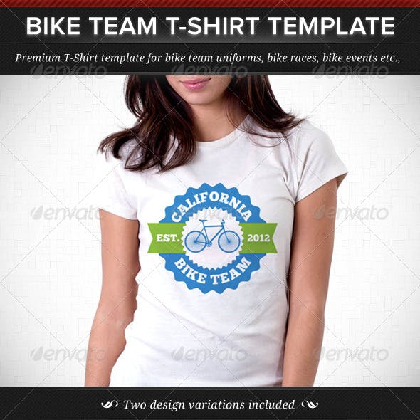 Bike Team T-Shirt Template