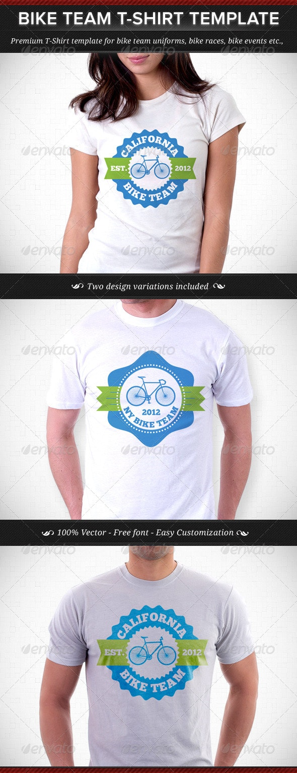 Bike Team T-Shirt Template - Sports & Teams T-Shirts