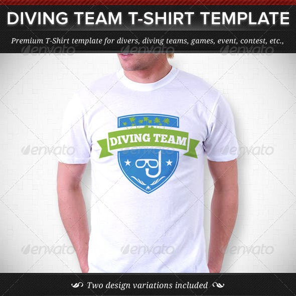 Diving Team T-Shirt Template