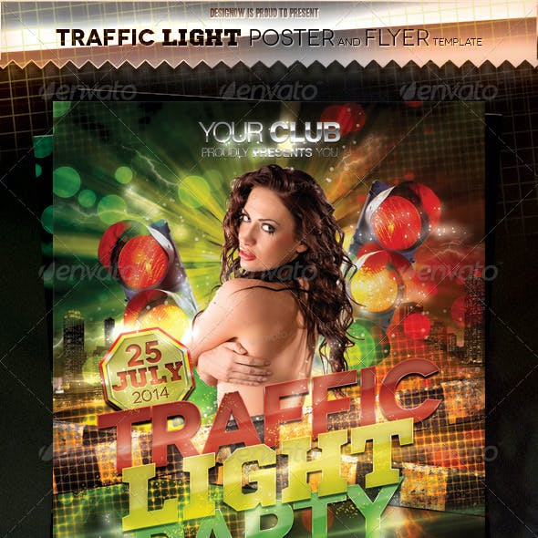 Traffic Light Party Flyer and Poster