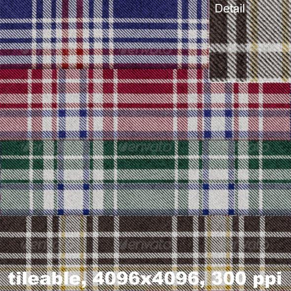 4 Flannel Plaid Textures