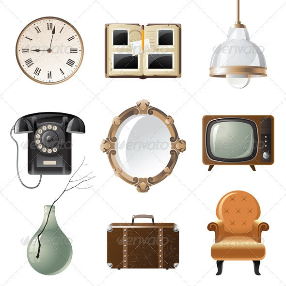 Retro Objects - Man-made Objects Objects