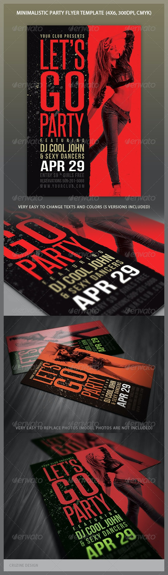 Minimalistic Party Flyer - Clubs & Parties Events