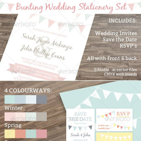 Bunting Wedding Stationery Set