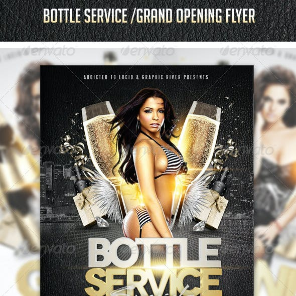Grand Opening - Bottle Service Flyer