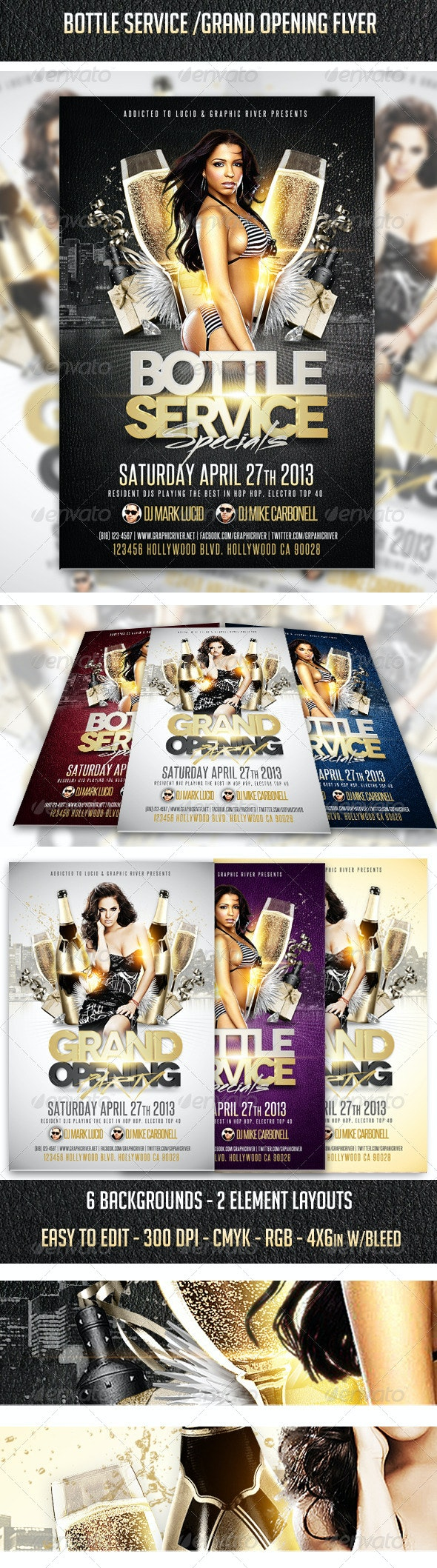 Grand Opening - Bottle Service Flyer - Clubs & Parties Events