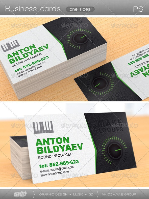 Sound Producer - Industry Specific Business Cards