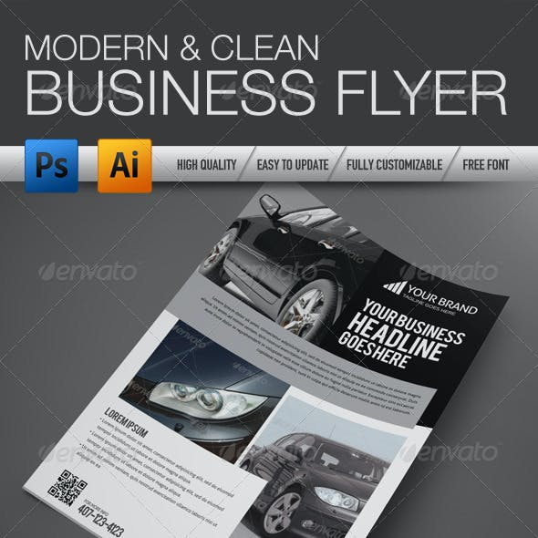 Professional and Clean Business flyer 3