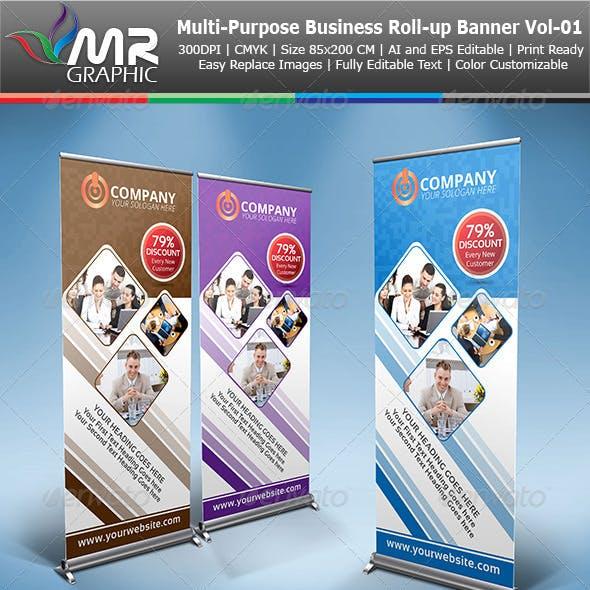 Multipurpose Business Roll-Up Banner Vol-01
