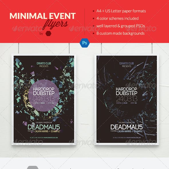 Minimal Typography Event Flyers / Concert Posters