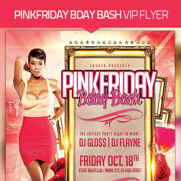Bday Bash Party Flyer