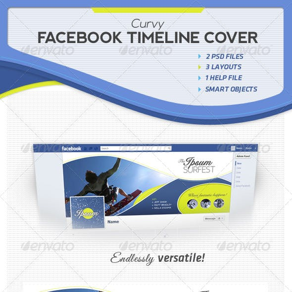Curvy Facebook Timeline Covers